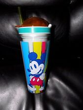 Disney Store Mickey Mouse Snack Drink Bottle Plastic Summer Fun 2016 NEW