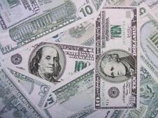 USA Money Dollar Bills Greenbacks Currency Timeless Treasures Fabric Yard