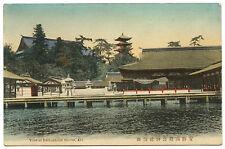 c1915 View of Itsukushima Shrine Aki Japan Vintage Postcard