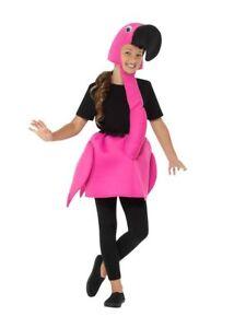 Enfants Flamingo Costume Déguisement, Combinaison Livre Jour Tabard & Coiffe