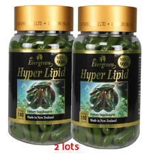 2LOTS 180 capsules Evergreen Hyper Lipid Green Lipped Mussel Made in New Zealand