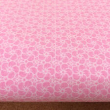 Shabby Chic pink flowers 100% Cotton Fabric. 76x140cm