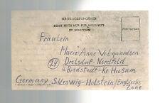 1946 Egypt Camp 2764 censored POW Prisoner of War Postcard Cover to Germany