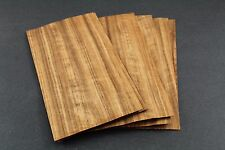 Curly Figured Etimoe Wood Veneer 9'' W x 4'' L x 1/36-1/42'' Thickness 7 sheets