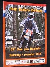 Programmaboekje ONK Enduro Zelhem (NED) Zaterdag 7 november 2015