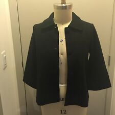 Women's Kenar Knit Jacket With 3/4 Length Sleeves And Covered Buttons Size S