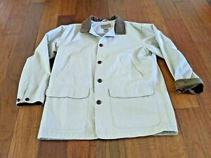 LL Bean Men's Field Coat Size Large Barn Jacket Utility Hunting Coat