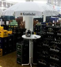 Krombacher Bier, Bistrotisch inklusiv Sonnenschirm, weiße Ausführung