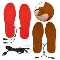 New USB Electric Heated Shoes Insoles Boots Keep Feet Warm For Men Women Winter