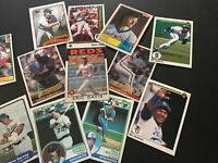 1980's lot of 16 Stars From The 80's - Yount/Bo Jackson/ Davis/Dawson... Etc