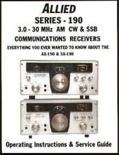 Allied / Radio Shack AX-190 SX-190 Receiver OWNER'S SERVICE - RESTORATION MANUAL