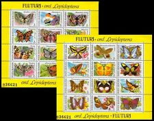 Romania 1991 MNH 2 SS Set, Butterflies, Insects