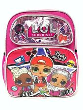 "L.O.L Surprise! Small School Backpack 12"" Girls Bag Pink Lol Bag Shine Pink"