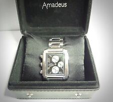Amadeus Mens Chronograph Quartz Water Resistant Watch. Stainless Steel Strap
