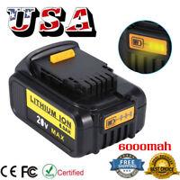 Hot 20 Volt Battery For DEWALT DCB200 DCB204 20V Max XR 6.0Ah Lithium-Ion Power