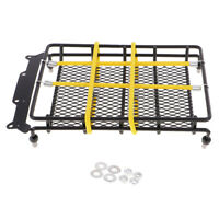 1/10 RC Rock Crawler Roof Rack Luggage Carrier w/ Rope for Axial SCX10 Car