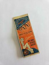 Vintage L&L Cafe Chicago IL All Girl Floor Show Matchbook Cover Girly Pin Up