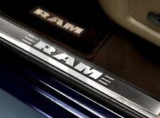 09-18 Dodge Ram Trucks Door Sill Set of 2 Front Scuff Plate Factory Mopar New