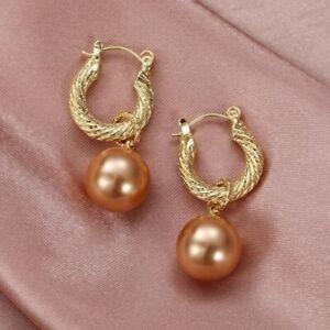 Fashion 925 Silver Jewelry Drop Earrings Women White Pearl Wedding Gifts A Pair
