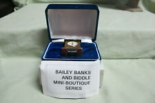 Vtg Bailey Banks and Biddle Mini Boutique seies Mini Carriage Clock Quartz in Bx