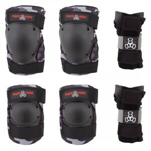 Triple Eight Saver Series 3-Pack Charcoal Camo LG Unisex