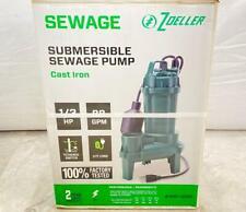 💦💧 Tested 💧💦 Zoeller 1/3-Hp Cast Iron Sewage Sump Pump Model 1261-0001
