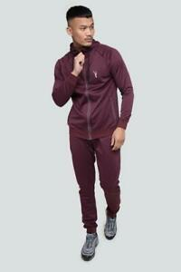 Men's Hooded Tracksuit Set Slim Fit Full Zipper Plain Bottom Jogger Set Gym Wear
