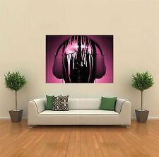 DJ Decks Headphones DRIPS Purple New Giant Poster Wall Art Print Picture g329