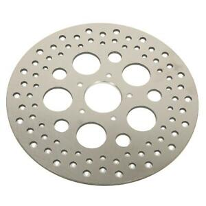 """Russell Brake Rotor Stainless Cross-Drilled 11.5"""" Dia Harley-Davidson Front EA"""