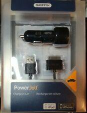 Griffin PowerJolt original 12V DC car charger for iPod iPhone 3G, black w/ cable