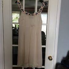 Vero Moda Filles Soie Beige Lovely Style genou robe très jolie taille S
