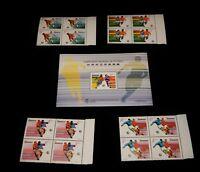 Vintage Stamp,1997 MACAU (PORTUGAL),Souvenir Sheet & 4 Blks,MNH,World Cup Soccer