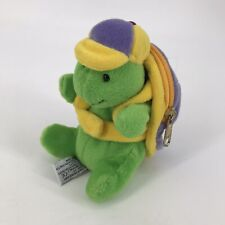 """Vintage Mary Meyer Turtle w/ Backpack Plush Toy 6"""" Shell Zipper Pocket RARE 1997"""