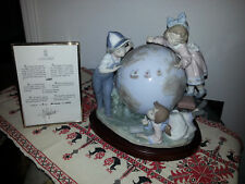 Lladro Figurine #5847 The Voyage Columbus Children Globe Retired / signed