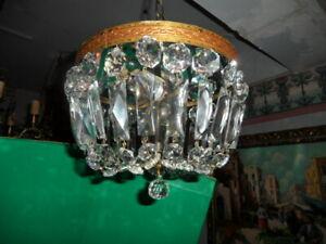 antique crystal ceiling mount light fixture