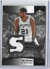 TIM DUNCAN 2004 UD SWEET SHOT SWEET SWATCHES GAME USED JERSEY