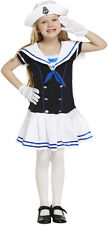 Childs Kids Sailor Girl Traditional Navy Fancy Dress Costume Outfit 4-12