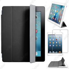 Housse Coque Etui SmartCover PU Cuir Noir Apple iPad 5 Air Wi-Fi 3G