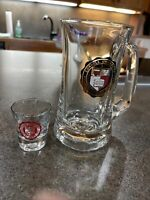 "Cornell University Glass Beer Mug 6 1/8"" Tall 1988 Year Purchased"
