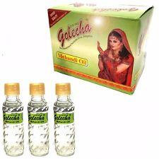 3 Fläschchen Mehandi Oil - Henna Öl zur Verstärkung von Hennabemalungen - 18 ml