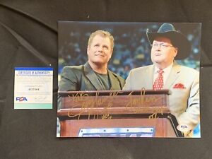 JERRY THE KING LAWLER & JIM ROSS Autographed 8x10 Photo w/PSA DNA AUTHENTICATION