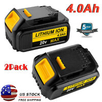 2 New For Dewalt DCB206-2 20V Max XR DCB205 4.0Ah Lithium DCB204 Compact Battery