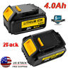 2 New For Dewalt DCB206-2 20V Max XR DCB205 4.0Ah Lithium DCB204 Compact Battery