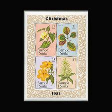 Samoa, Sc #565a, MNH, 1981, S/S, Christmas, Flowers, CL052F