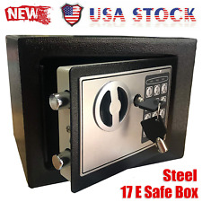 Electronic Digital Safe Box Keypad Lock Steel Home Office Security Cash Gun