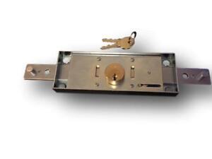 Standard Centre Roller Shutter Door Lock c/w 2 keys (155mm x 55mm) free P&P