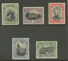 MALTA SG167-71 THE 1926 GV 1/6d to 5/- fine mounted mint cat £82.50