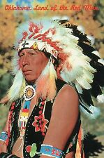 Oklahoma, Land of the Red Man, Indian, Native American, Feathers etc. - Postcard