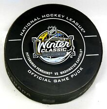 2011 WINTER CLASSIC PITTSBURGH PENGUINS WASHINGTON CAPITALS OFFCIAL PUCK US00553