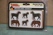 Woodland Scenics Scenic Accents #1842 Chestnut Horses New
